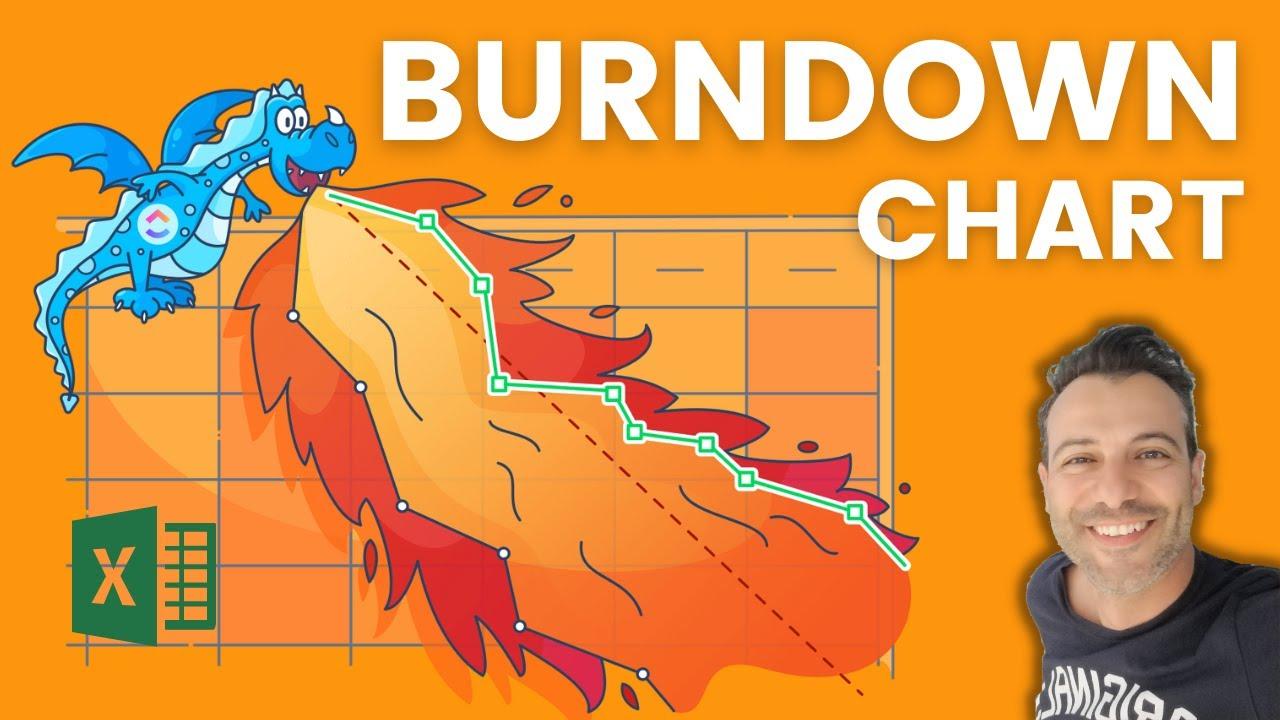 Create An Excel Burndown Chart In Simple Steps Youtube