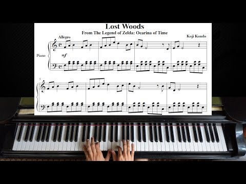 Lost Woods from The Legend of Zelda: Ocarina of Time | Piano Tutorial