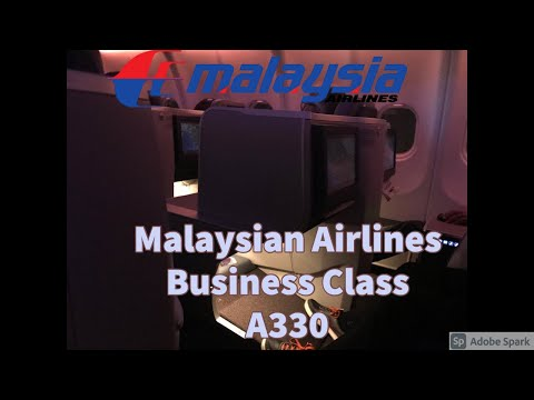 Malaysian Airlines Business Class New Delhi To Kuala Lumpur On Airbus 330-300