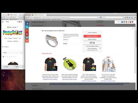 PrideShack.com Shopping Cart & Checkout Tutorial (Mobile And Computer)