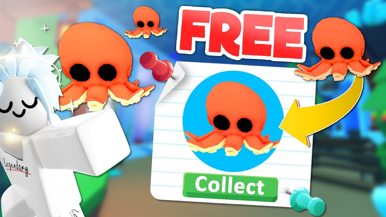 How To Get The Octopus FOR FREE In Roblox Adopt Me 🐙 150,000 Subscriber Special