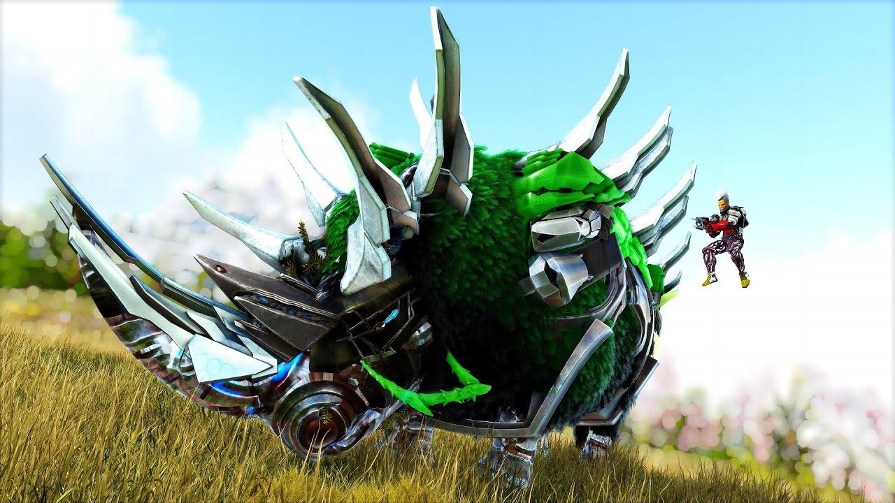 ARK GUERRA - Finalmente Evoluí Meu Colossal Rhino Boss Para 1 BILHÃO De HP! Dinossauros