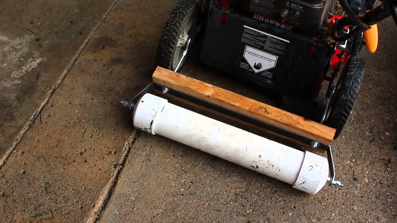 Homemade Lawn Striping Kits (They Roll) - YouTube