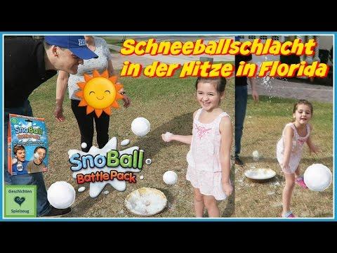 Schneeballschlacht in der Hitze in Florida 🌞 ❄️ Snowball Battle Pack 💕 Geschichten und Spielzeug