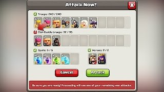 Clash Of Clans WAR ATTACK ARMY PREVIEW (New Update!)