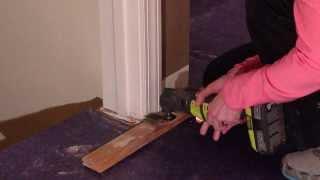 How to fit flooring under door casings and jams