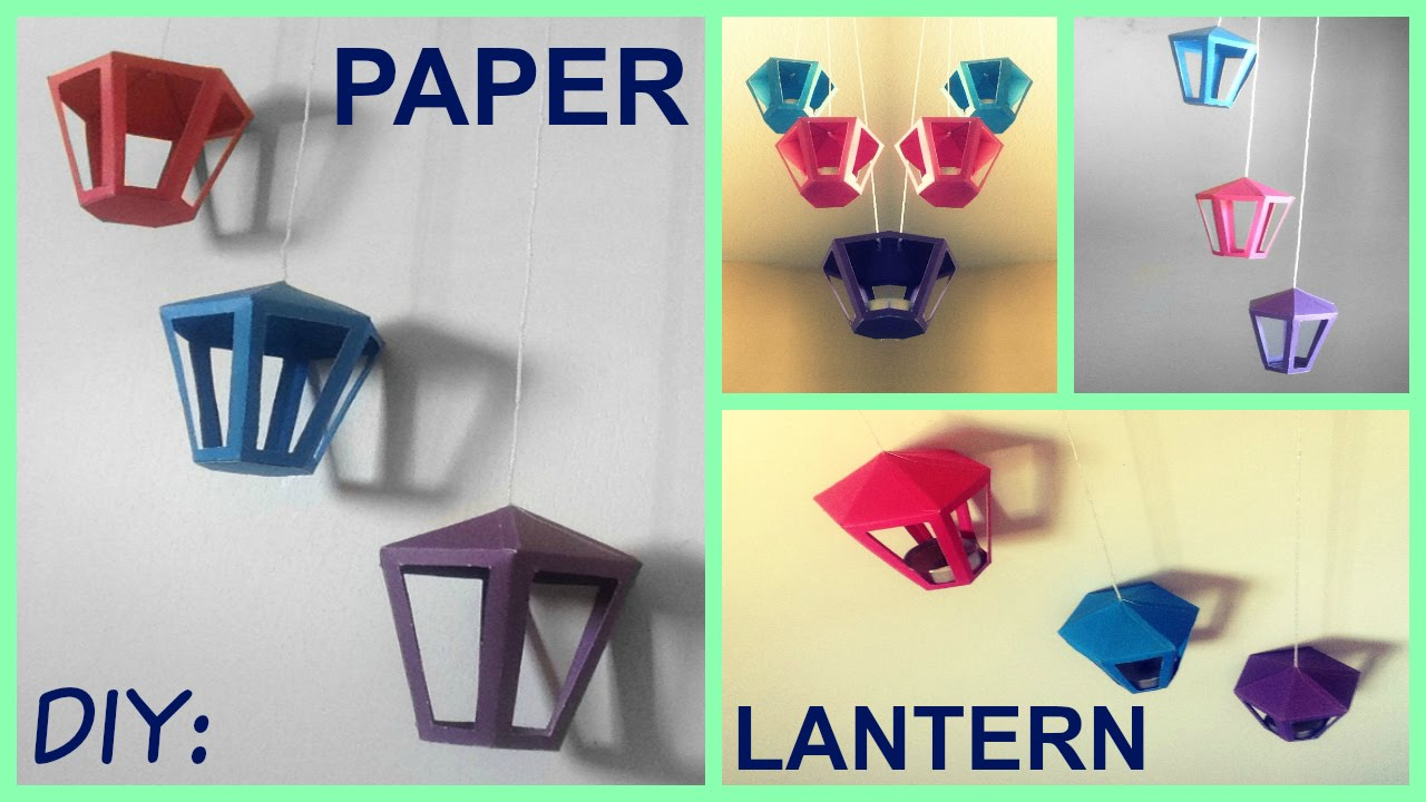 diy paper lantern room decor youtube