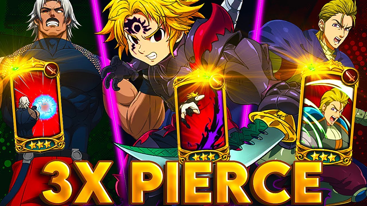 TRIPLE THREAT!! TRIPLE PIERCE UNITS IN FRONT VS 4v4 PVP!!! | Seven Deadly Sins: Grand Cross