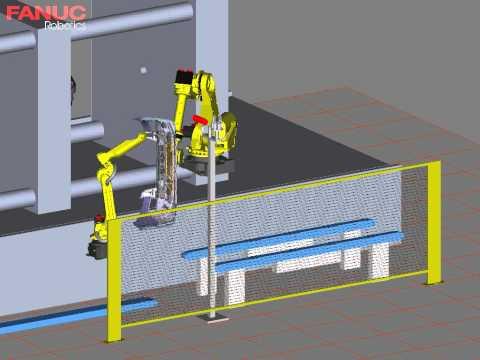 Injection Molding Machine Takeout Simulation