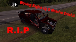 My Summer Car How to purposely crash and blow up engine...