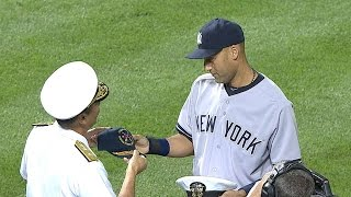 Derek Jeter honored by Orioles in ceremony during his final season