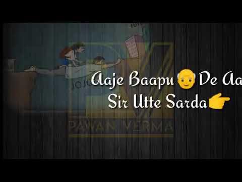 Maa Putt Tera Adi Chitte Da  Abraam   Whatapp States 30 Second  Latest Punjabi Song 2018
