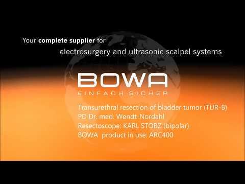 BOWA ARC 400 Bladder tumor bipolar saline plasma resection with BOWA ARC 400 and Storz workin