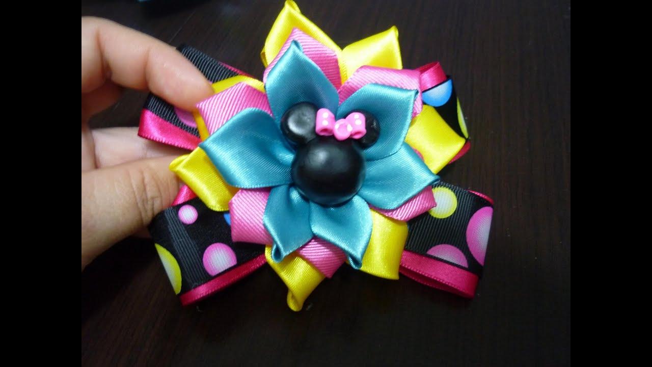 Como hacer lazos y flores de liston para el cabello how - Lazos con cintas ...
