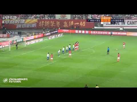 2° Gol de Anderson Talisca - GZ Evergrande x Shandong Luneng - 6a rodada da Super Liga da China 2019