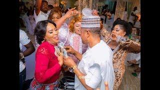 ToyinampOther Scream As Saidi Balgoun Sprays Money On Faithia As They Danced At Mercy Aigbe39s Birthday