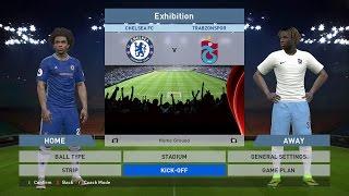 Chelsea FC vs Trabzonspor, Stamford Bridge, PC GAMEPLAY, PCGAMEPLAY, PES 2016, Konami