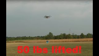 Heavy Lift 50lbs 22.7kg 685mm X8 Multi Rotor