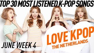 [TOP 30] Most Listened K-Pop Songs - June week 4