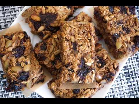 Dried Fruit And Seed Oatmeal Bars| Gluten Free, Dairy Free, Nut Free, Vegan Recipe