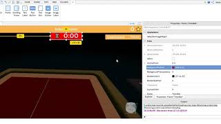 How to change the TimerBar's color in Roblox Create And Destroy Template