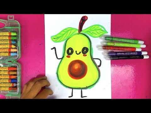 Как нарисовать АВОКАДО урок рисования от РыбаКит