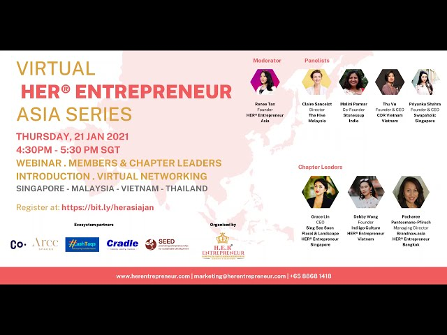 Sustainable Business for a Sustainable World I HER® Entrepreneur Asia Series January 2021