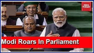 PM Modi Launches Scathing Attack On Congress In Lok Sabha   Full Speech Here