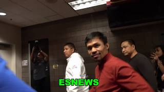 Manny Pacquiao In His Car (46 Hours To Fight) Lady Asks For A Pic For Baby Look What Happens Next!