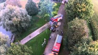 Brandweer oefening Boxmeer aan de jachthaven gefilmd met drone