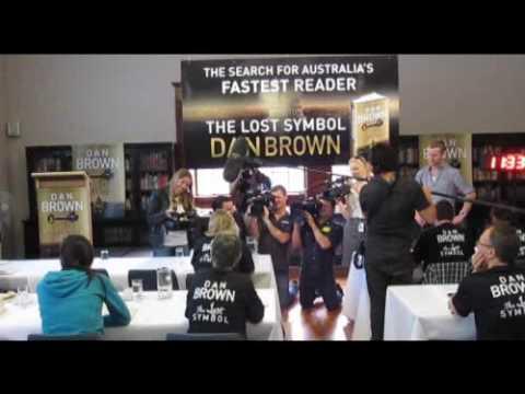 THE LOST SYMBOL -  Random House Finds Australia's Fastest Reader