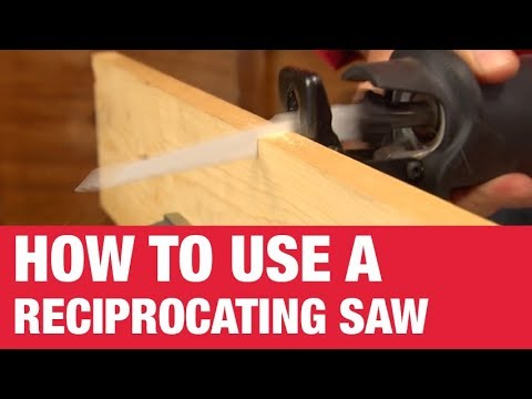 how to use a reciprocating saw youtube