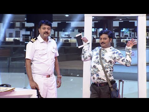 Thakarppan Comedy l Funfilled Airport scenes... l Mazhavil Manorama