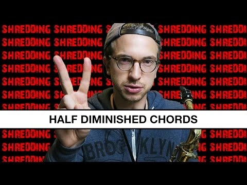 How to Improvise on Half Diminished Chords Using Triad Pairs (shredding ensues)