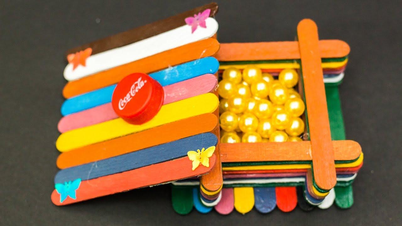 Popsicle Stick Craft Ideas Jewellery Box Youtube