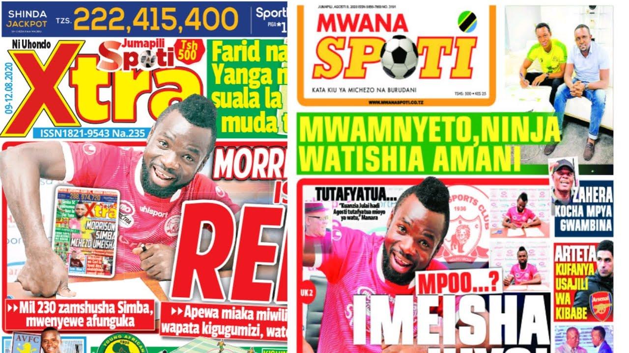 Michezo Magazetini 9/8/2020 Jumapili/ Straika Mghana akwama Simba/ Jeshi jipya Yanga hili hapa