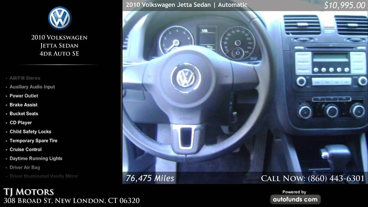 Used 2010 volkswagen jetta sedan tj motors new london for Tj motors new london ct