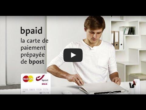 bpaid - carte de paiement prépayée de bpost - protection