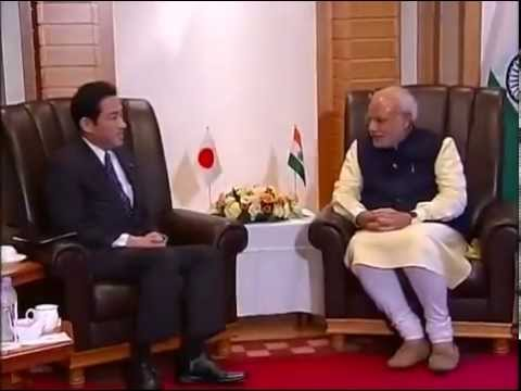 PM Modi meets Minister of Foreign Affairs, Fumio Kishida, in