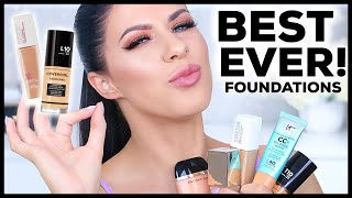 THE BEST FOUNDATIONS OF 2018!! YEARLY  BEAUTY FAVORITES!!
