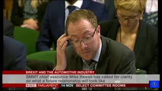 Business and Enterprise Cttee: Brexit and the Automotive Industry