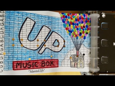Up Music Box w/ Illustrations ('Married Life')