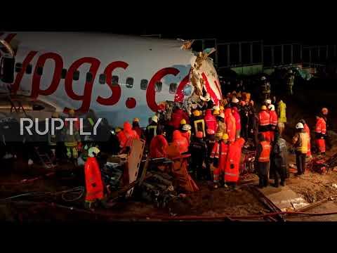 Turkey: One killed, dozens injured after plane skids off runway in Istanbul