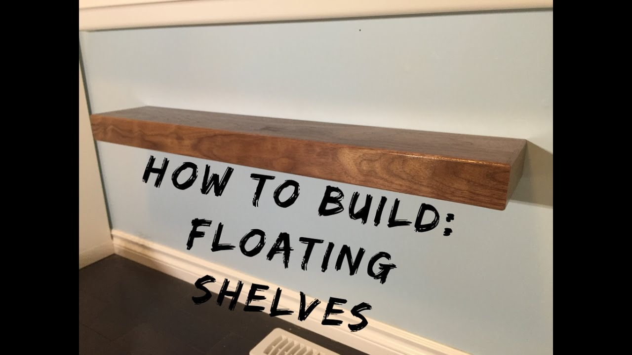 how to make floating shelves