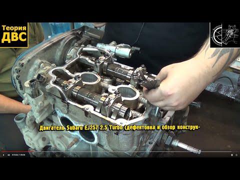 Теория ДВС Двигатель Subaru EJ257 2.5 Turbo дефектовка и обзор конструкции