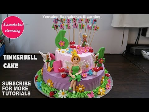 Tinkerbell Cake Birthday Cakes For Girls Design Ideas Decorating Tutorial Video For Kids Or Children