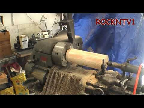WoodTurning on Metal Lathe Machining a Pulley