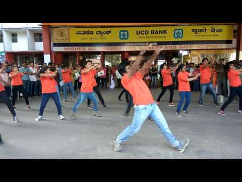 K.L.E. University college of pharmacy Flashmob at majestic railway station in bangalore.....