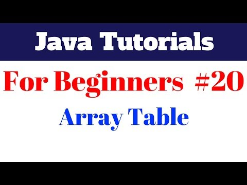 java-tutorial-for-beginners-20---creating-an-array-table