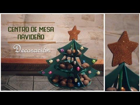 Centro de mesa navide o dulcero youtube - Centros de mesas navidenos ...
